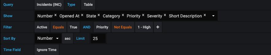 query editor table - query