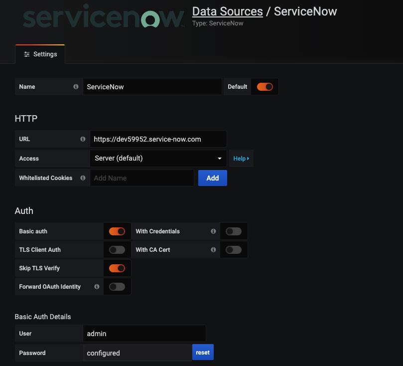 datasource configured