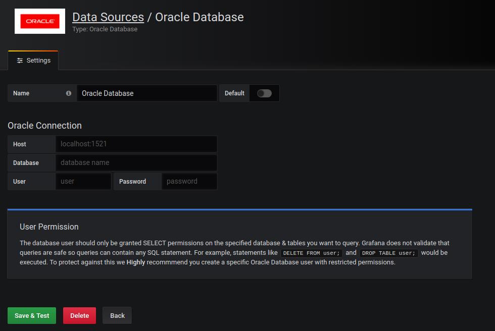 enter datasource detail
