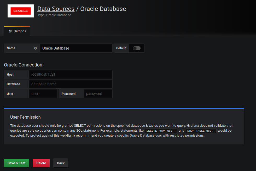 Oracle Database plugin for Grafana | Grafana Labs